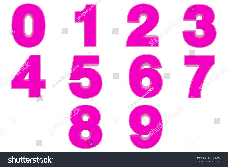 Number 0 9 Pink Color 3 D Stock Illustration 391436290 - Shutterstock