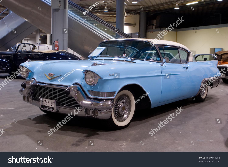 Valencia, Spain - October 16 : Restored 1957 Cadillac ...