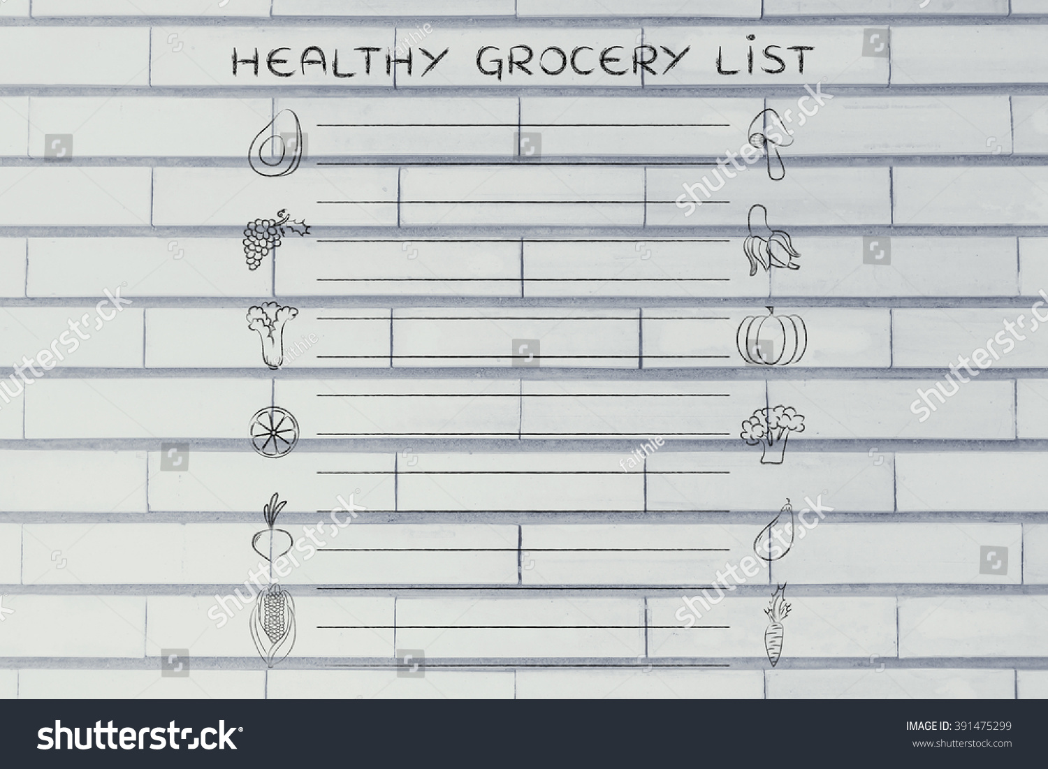 Great Healthy Grocery List Template Photos - Examples Professional ...