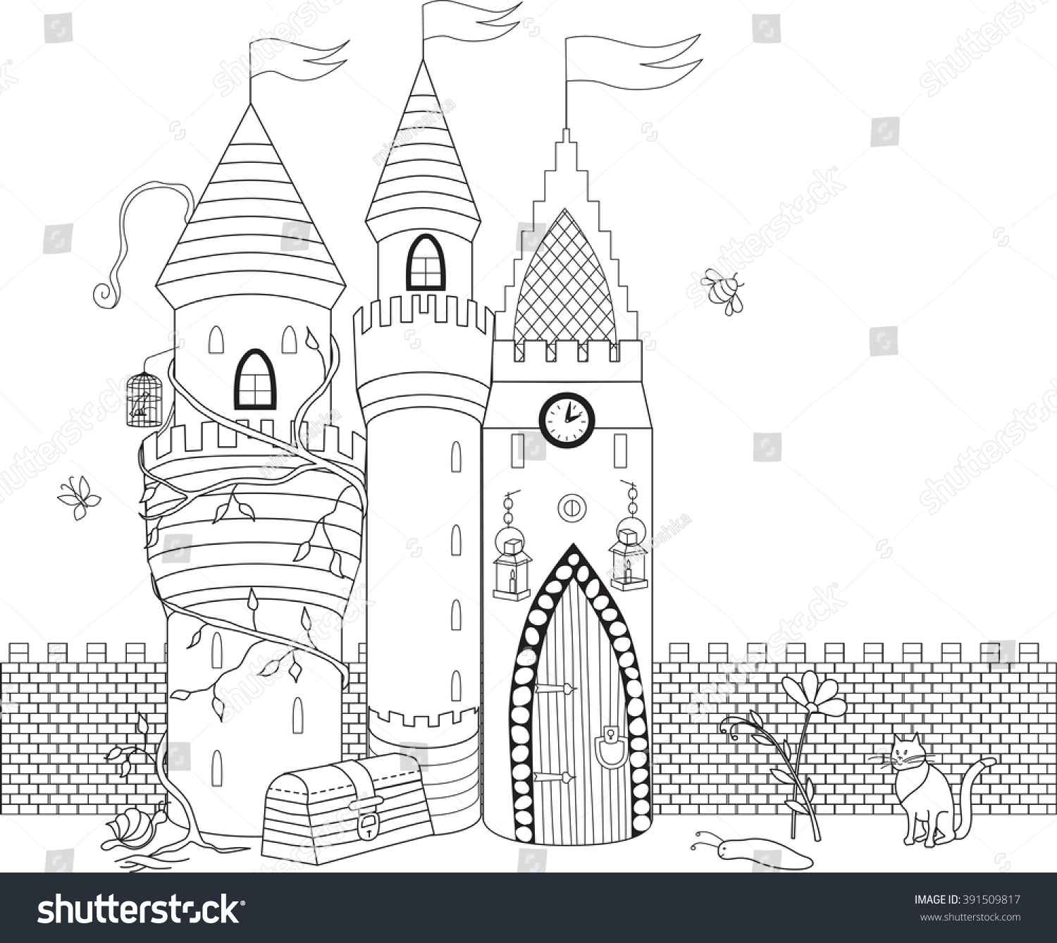 coloring book older children coloring stock vector 391509817