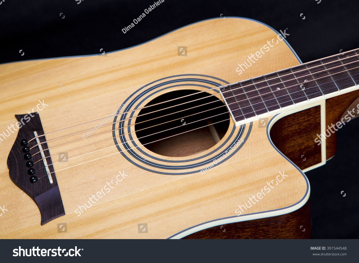Electric Guitar Parts Acoustic Musical Music Instrument Of The Background Detail Part String Head Art Brown Classic White Classical