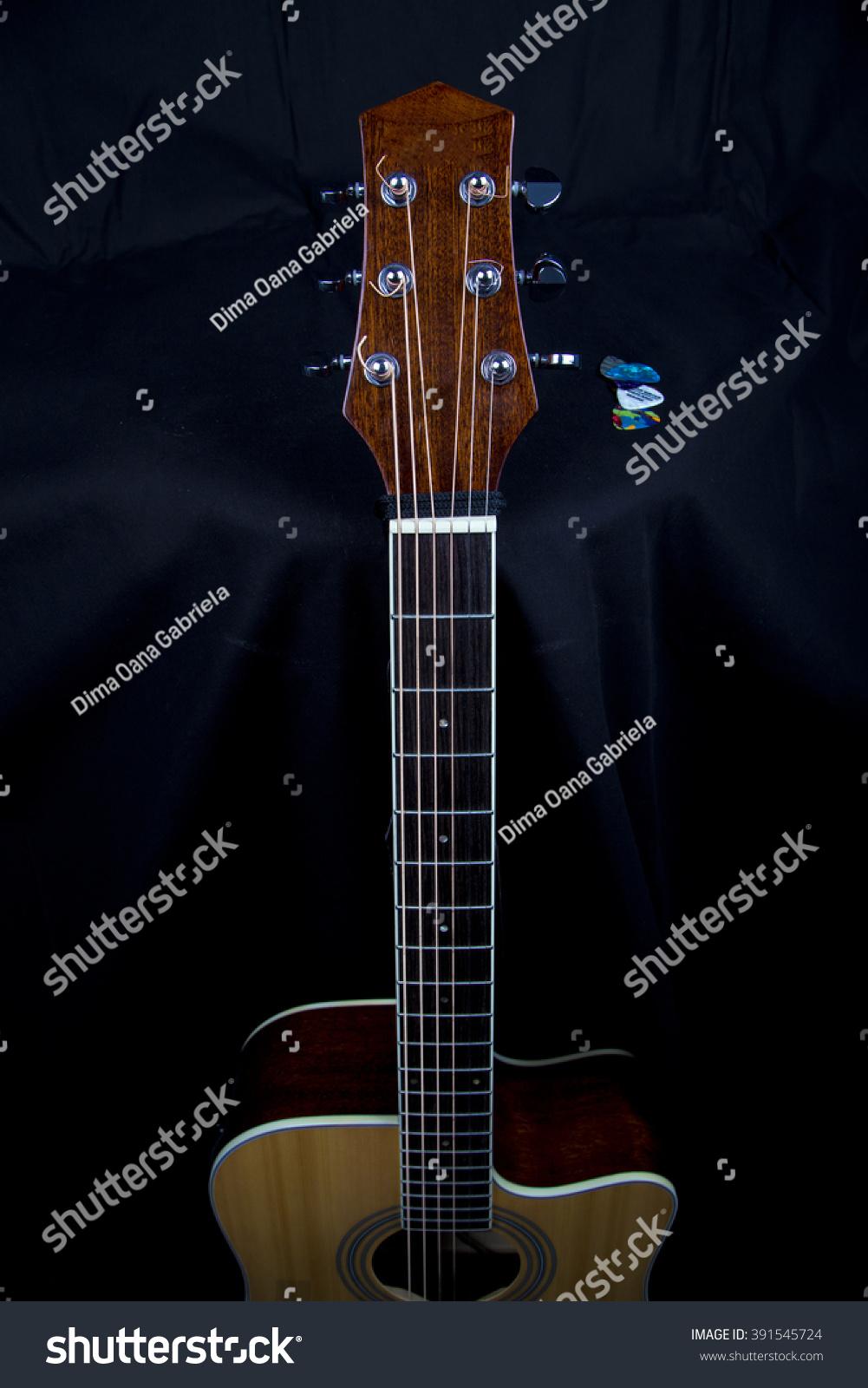 Guitar Fingerboard Electric Parts Acoustic Musical Stock Fingerboardelectric Music Instrument Background