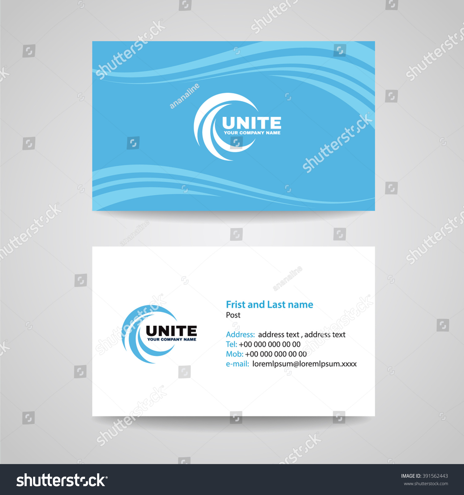 Business card background template blue sky stock vector 2018 business card background template blue sky wave style vector design colourmoves