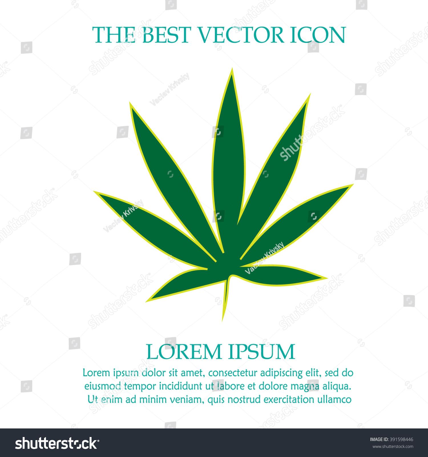 Marijuana leaf weed vector icon cannabis stock vector 391598446 marijuana leaf weed vector icon cannabis symbol simple isolated sign biocorpaavc
