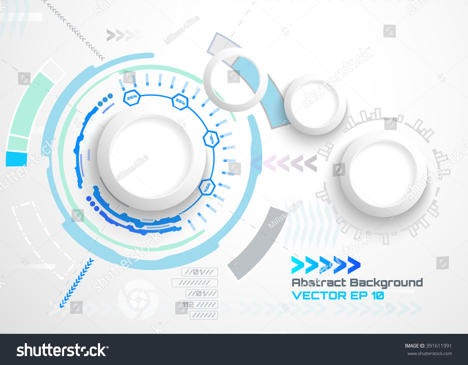 vector illustration abstract futuristic circuit board stock vector 391611991 shutterstock