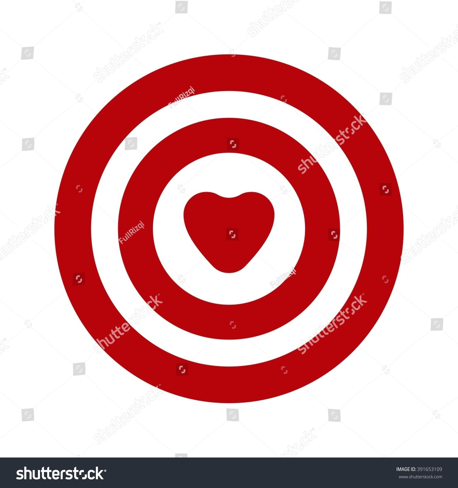 Love symbol target stock vector 391653109 shutterstock buycottarizona Image collections