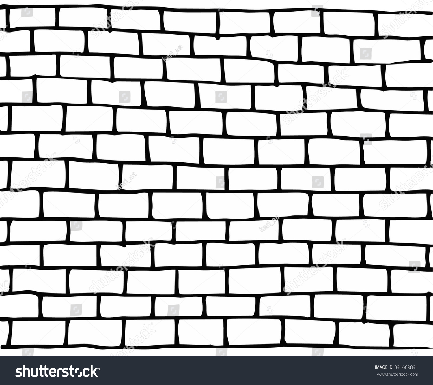 Template Doodle Brick Wall Vector Illustration Stock Vector (Royalty ...