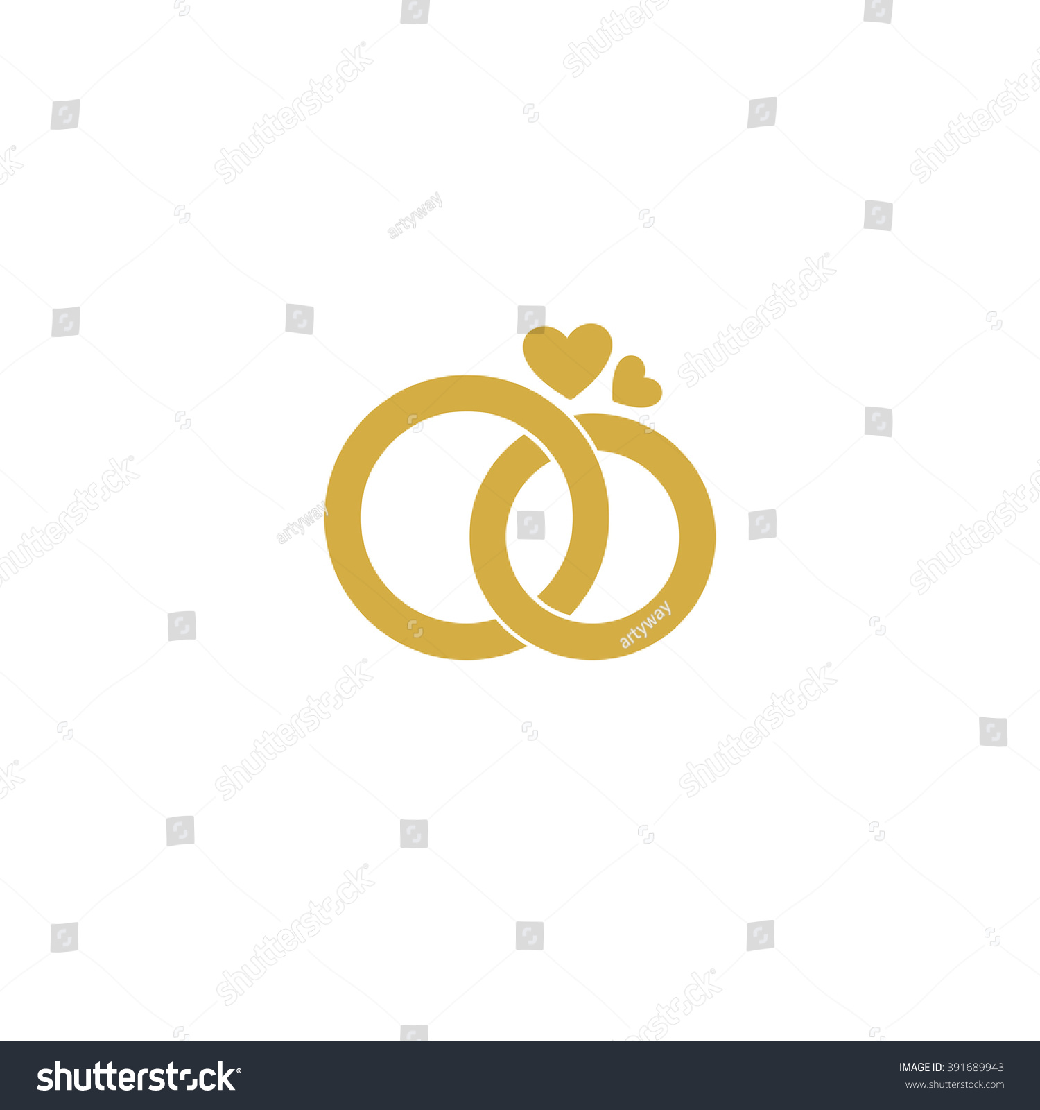 Wedding logo gold wedding rings stylized engagement stock vector hd wedding logo gold wedding ringsylized engagement attributes and decoration ceremony the junglespirit Images