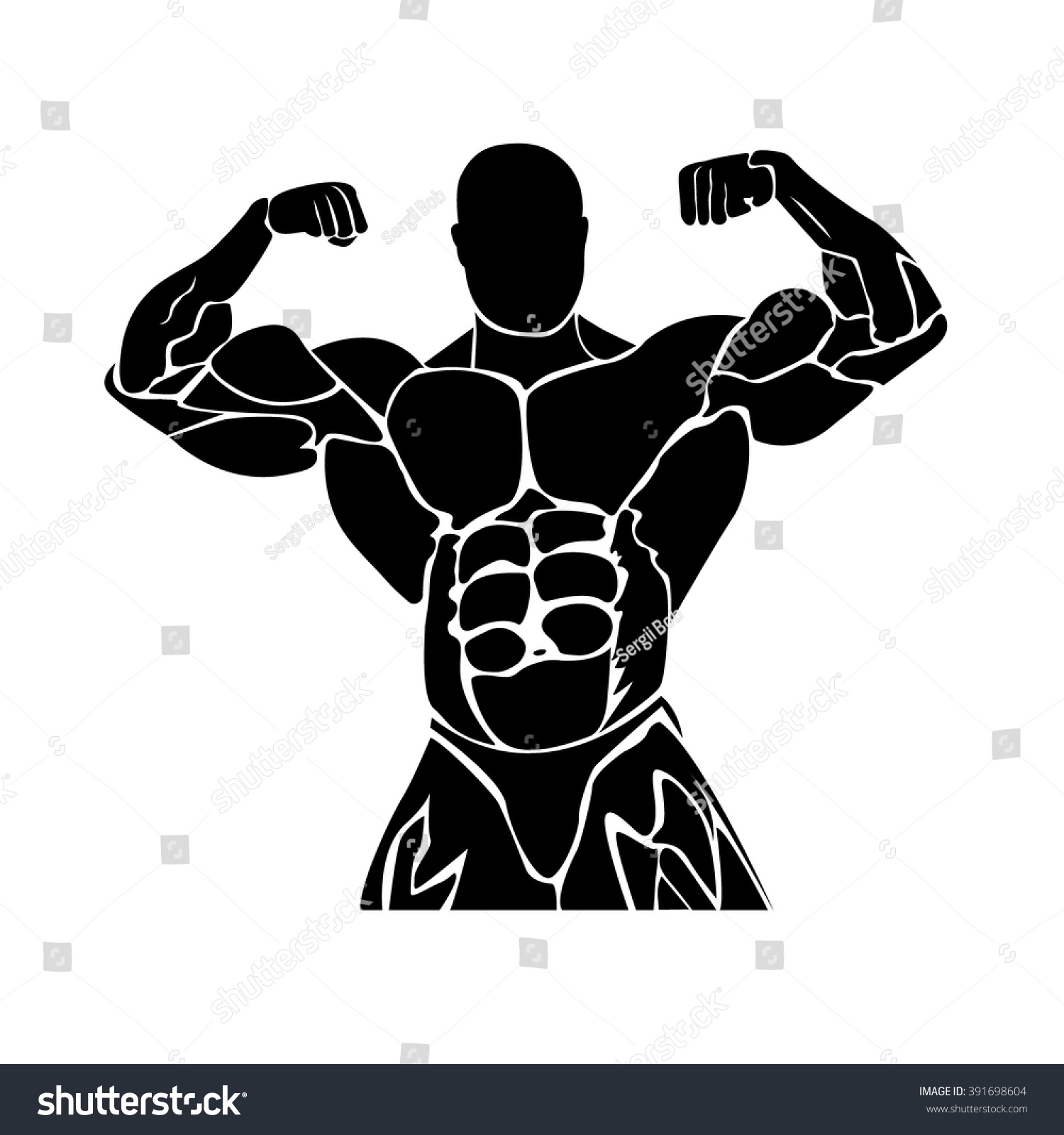 Bodybuilding Graphic Design Strongmanicon Power Lifting Stock ... for Bodybuilding Graphic Design  45hul