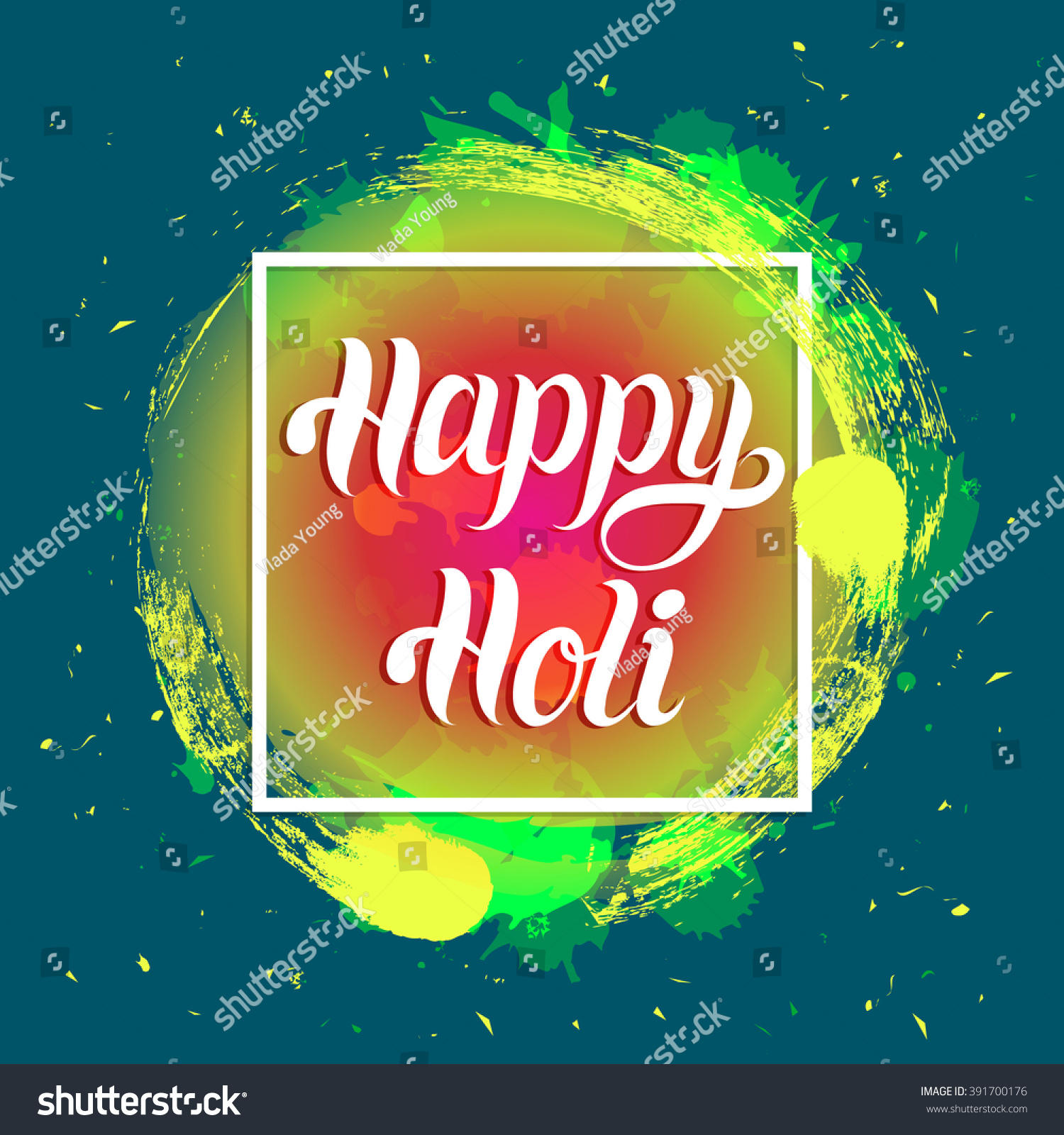 happy holi greeting card poster festival stock vector 391700176