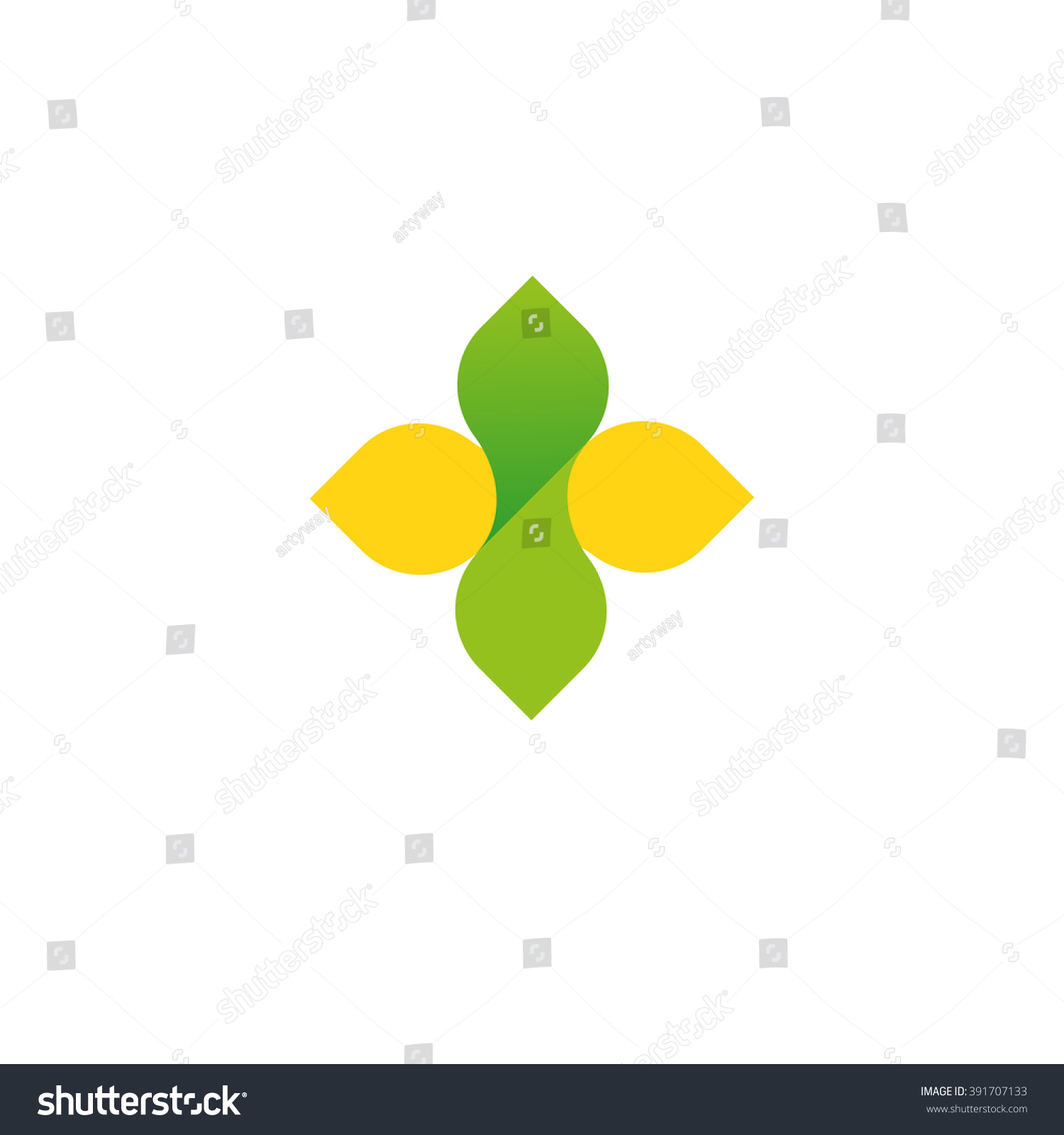 Vector sign cross leaf logo yellow stock vector 391707133 vector sign of the cross and leaf logo yellow and green gradient it symbolizes biocorpaavc