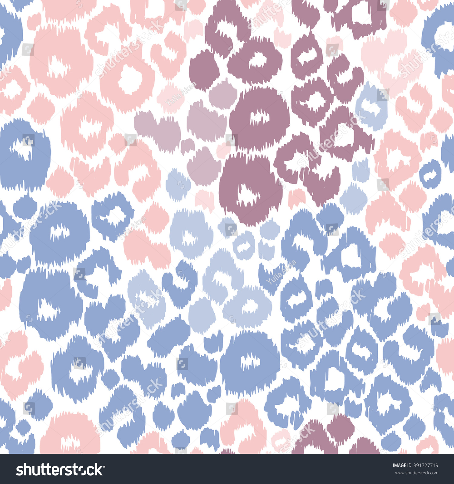 Leopard Print Animal Patterns Color Trend Stock Vector (Royalty Free ...
