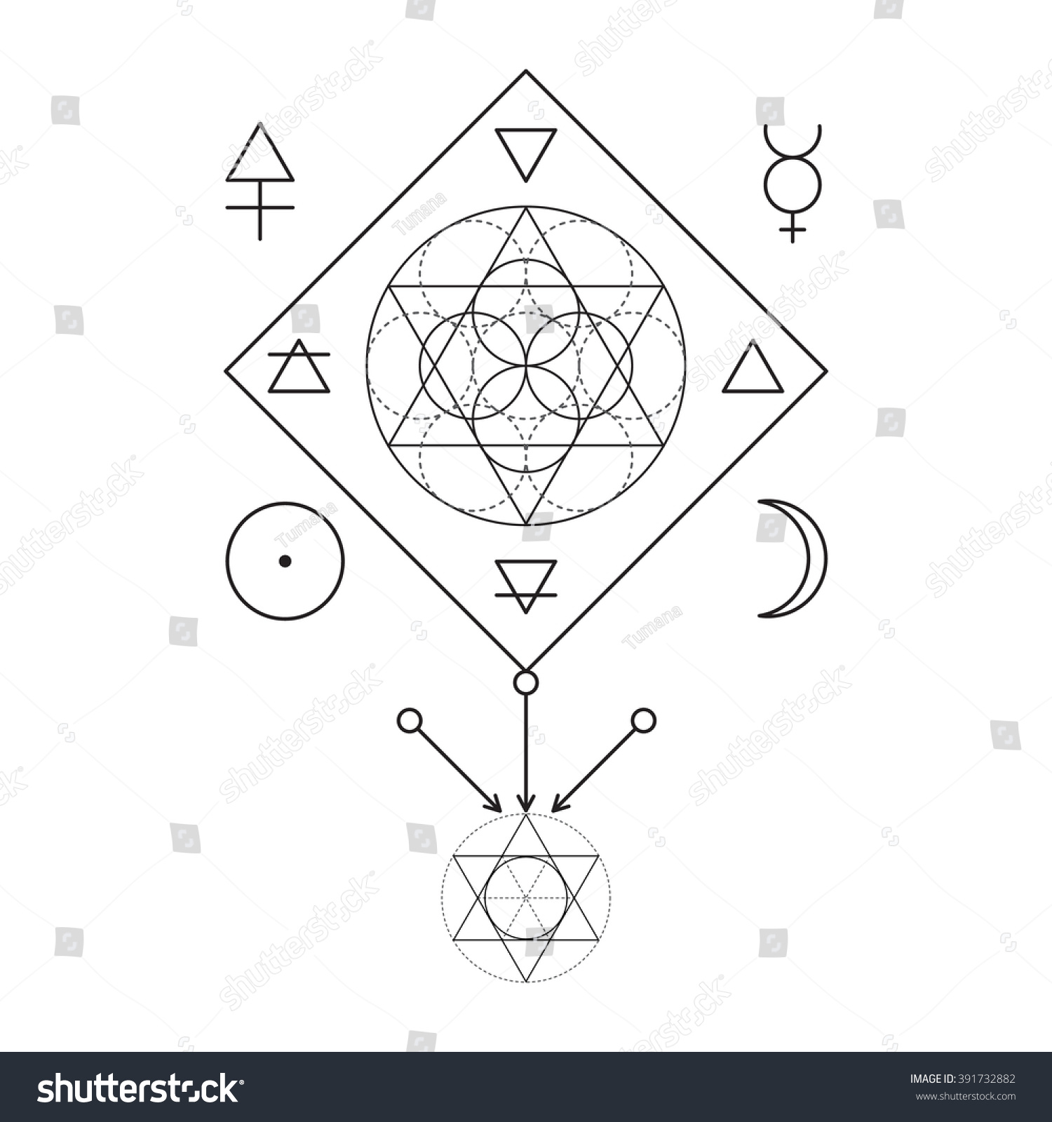 Royalty Free Symbol Of Alchemy And Sacred Geometry 391732882
