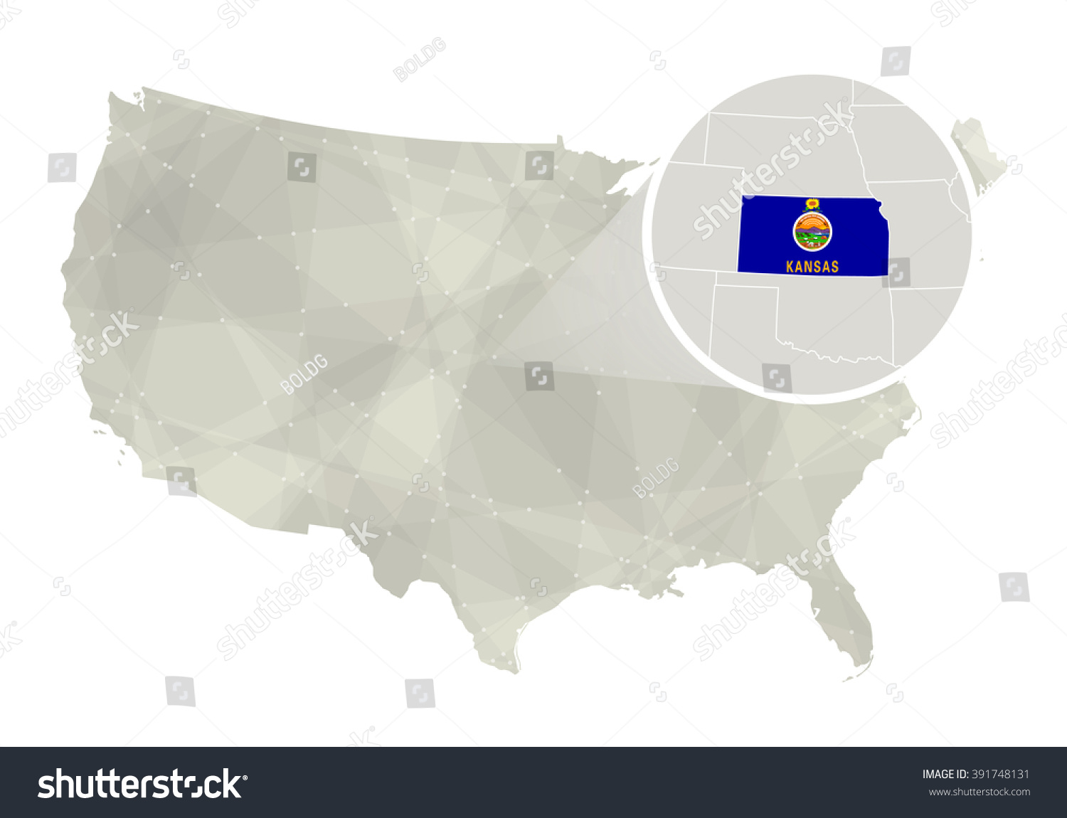 Reference Map Of Kansas USA Nations Online Project Kansas Cities - Us map kansas