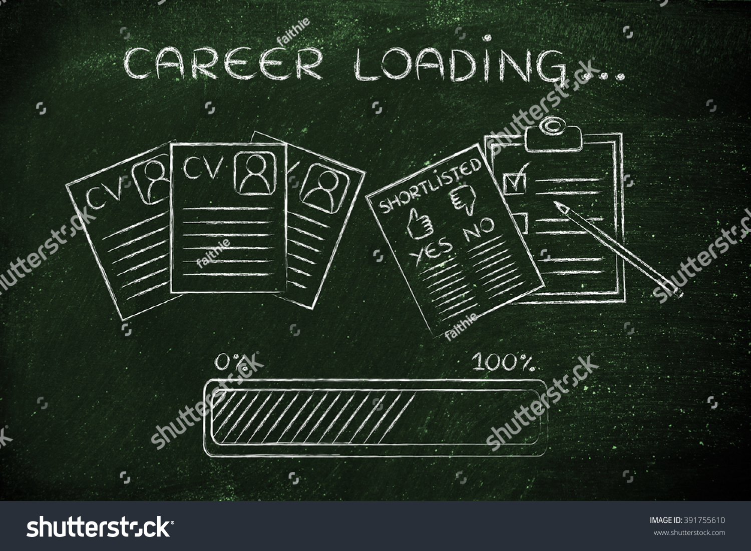 Career Loading CV Shortlist Candidates Progress Stock Illustration ...
