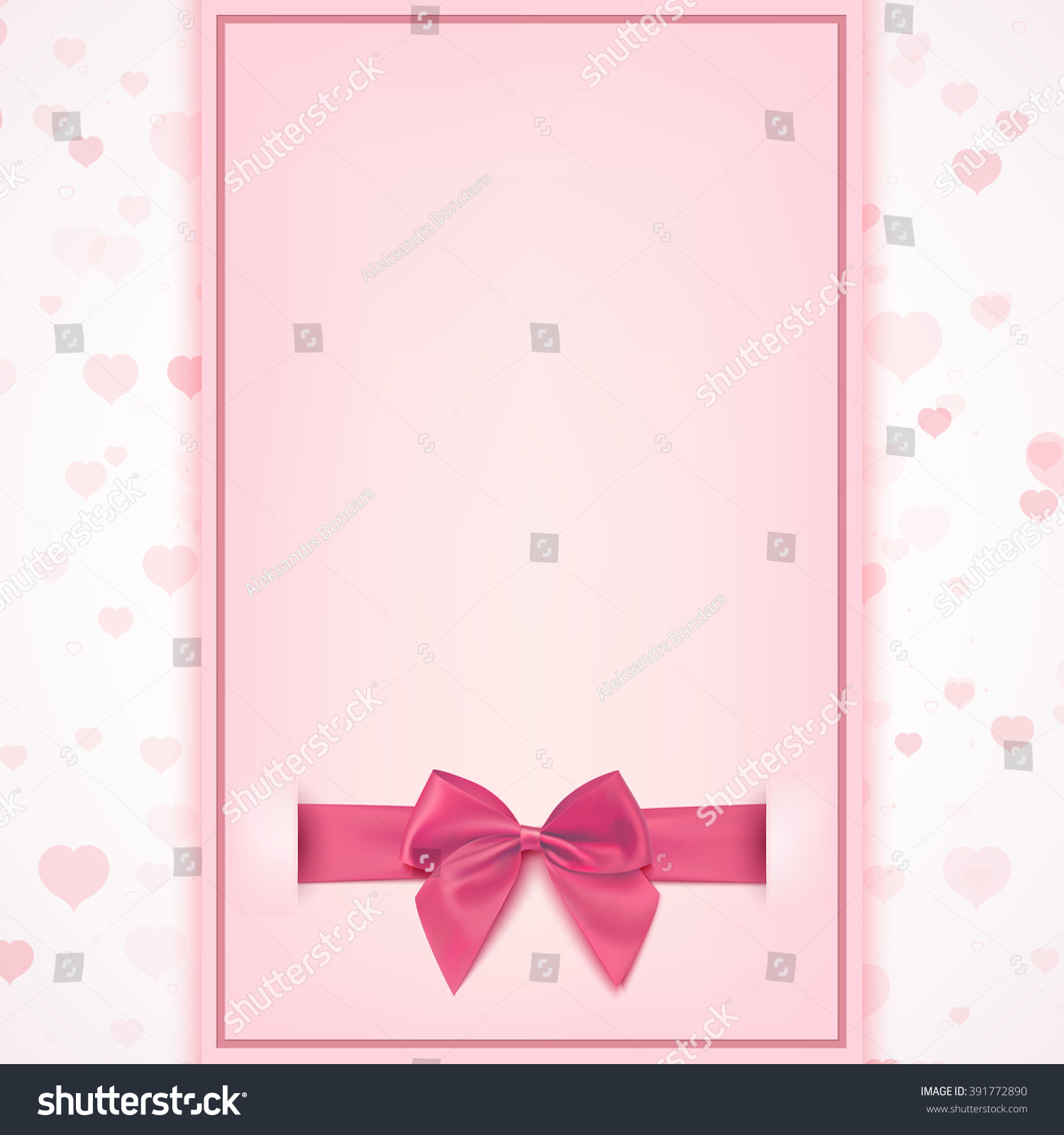 Blank Greeting Card Template Baby Girl Stock Illustration 391772890