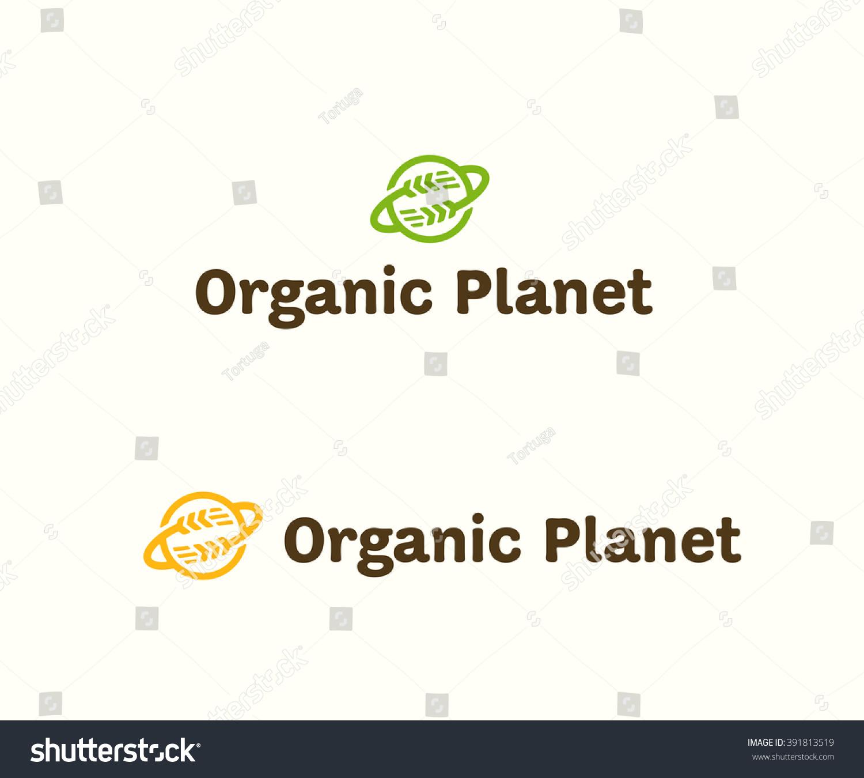 Organic planet original simple minimal graphic stock vector organic planet original simple minimal graphic symbol for healthy food company grocery shop fresh buycottarizona Choice Image