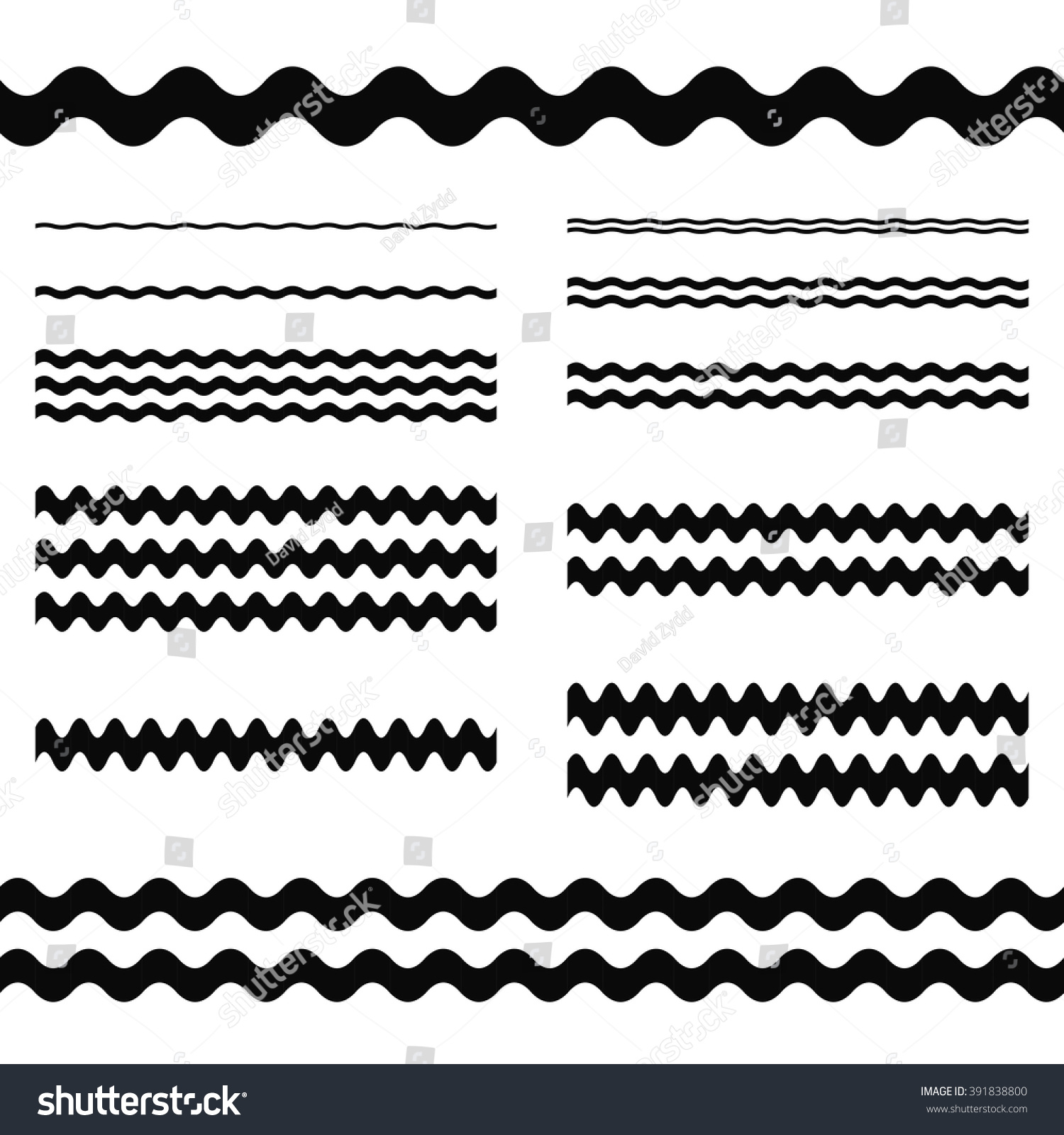 Graphic Design Elements Line : Graphic design elements wave line page stock vector