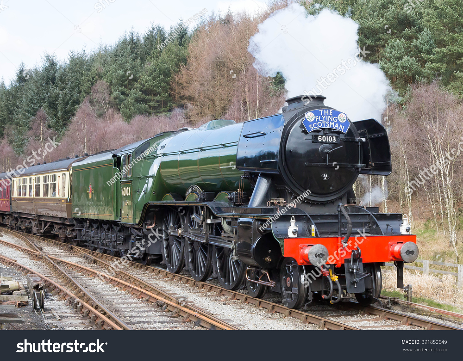 March 16, 2016 Former LNER A3 Pacific… Stock Photo 391852549