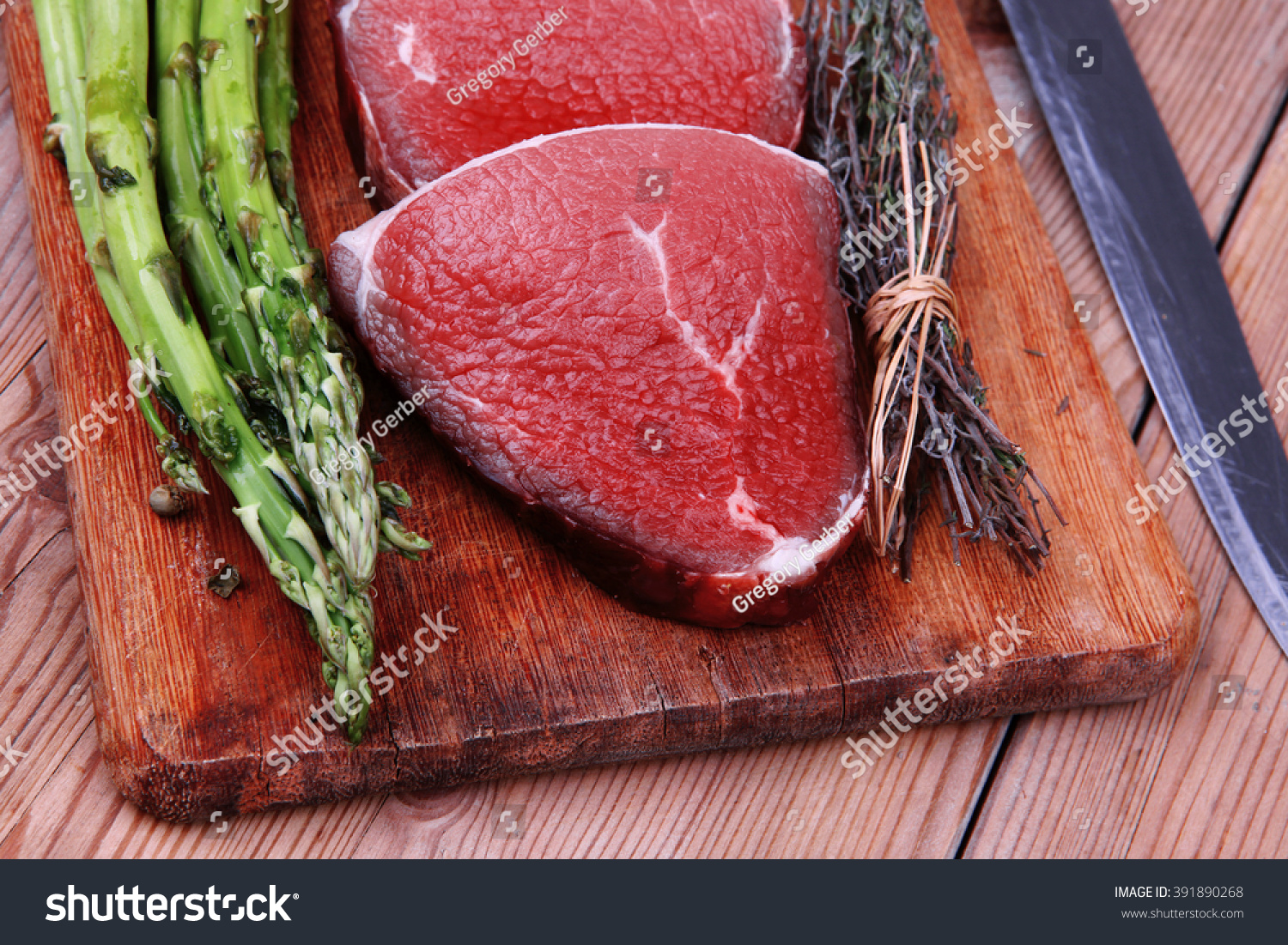 Prime Fillet Meat Dry Raw Beef Stock Photo (Edit Now) 391890268
