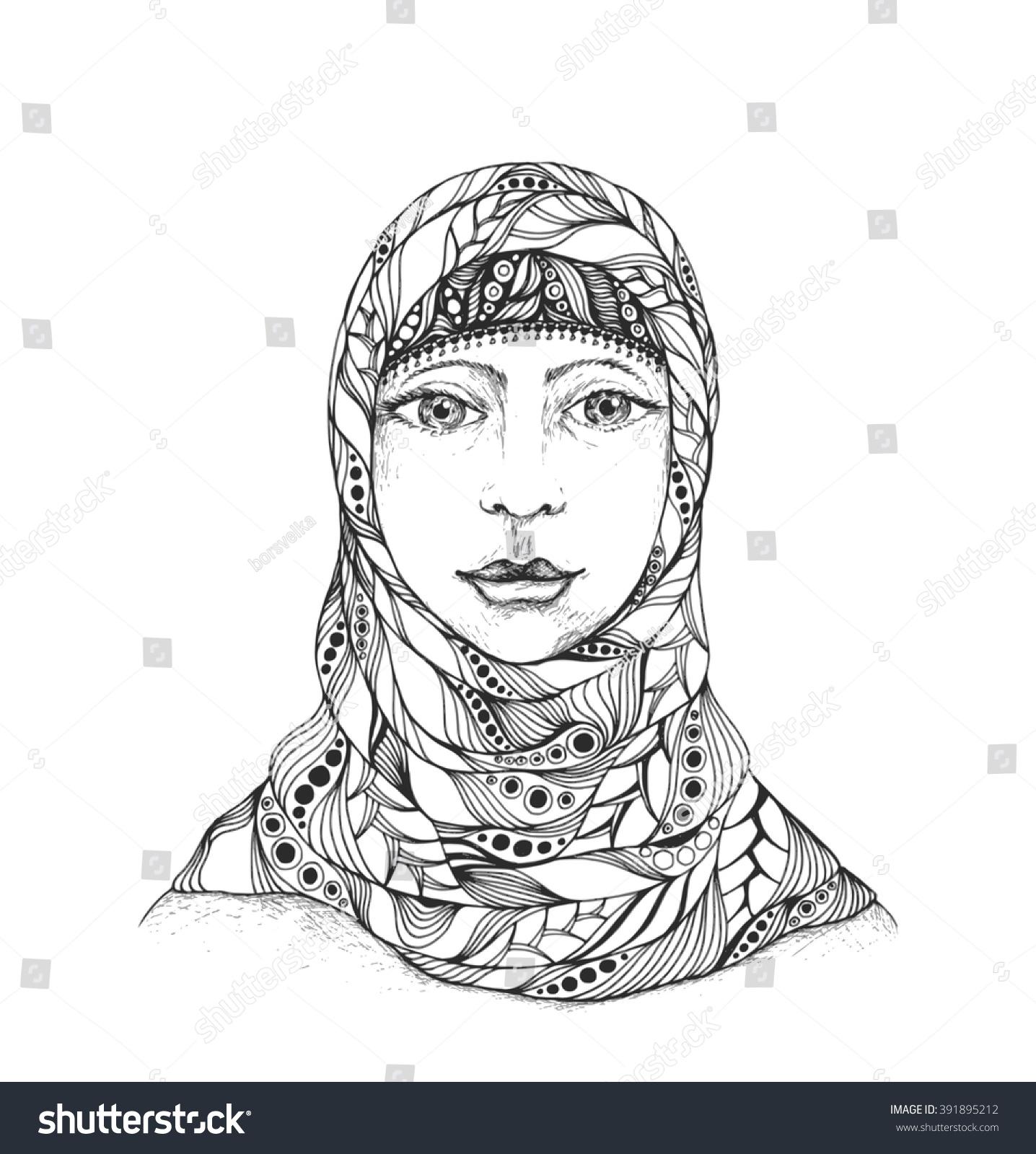 Arabic muslim woman hijab stock vector 391895212 shutterstock arabic muslim woman in hijab biocorpaavc
