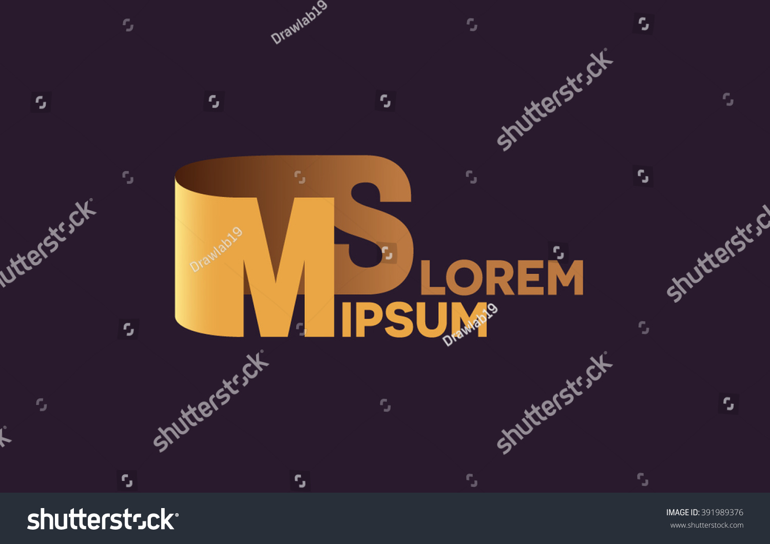 MS Letters Logo M And S Alphabet Design