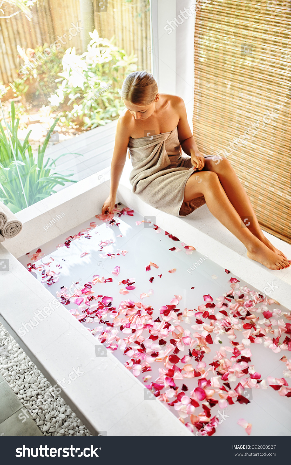 Woman spa body care treatment beautiful stock photo for Beautiful spas near me