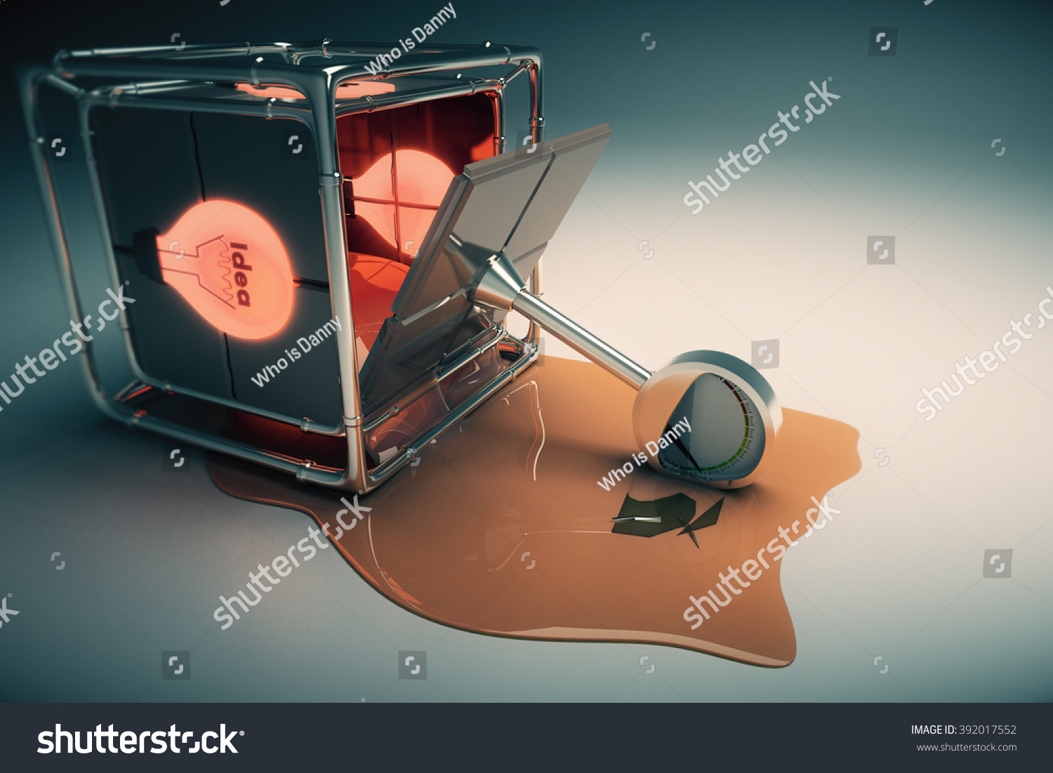 Idea Concept Broken Box Power Meter Stock Illustration 392017552 Audio With And 3d Render