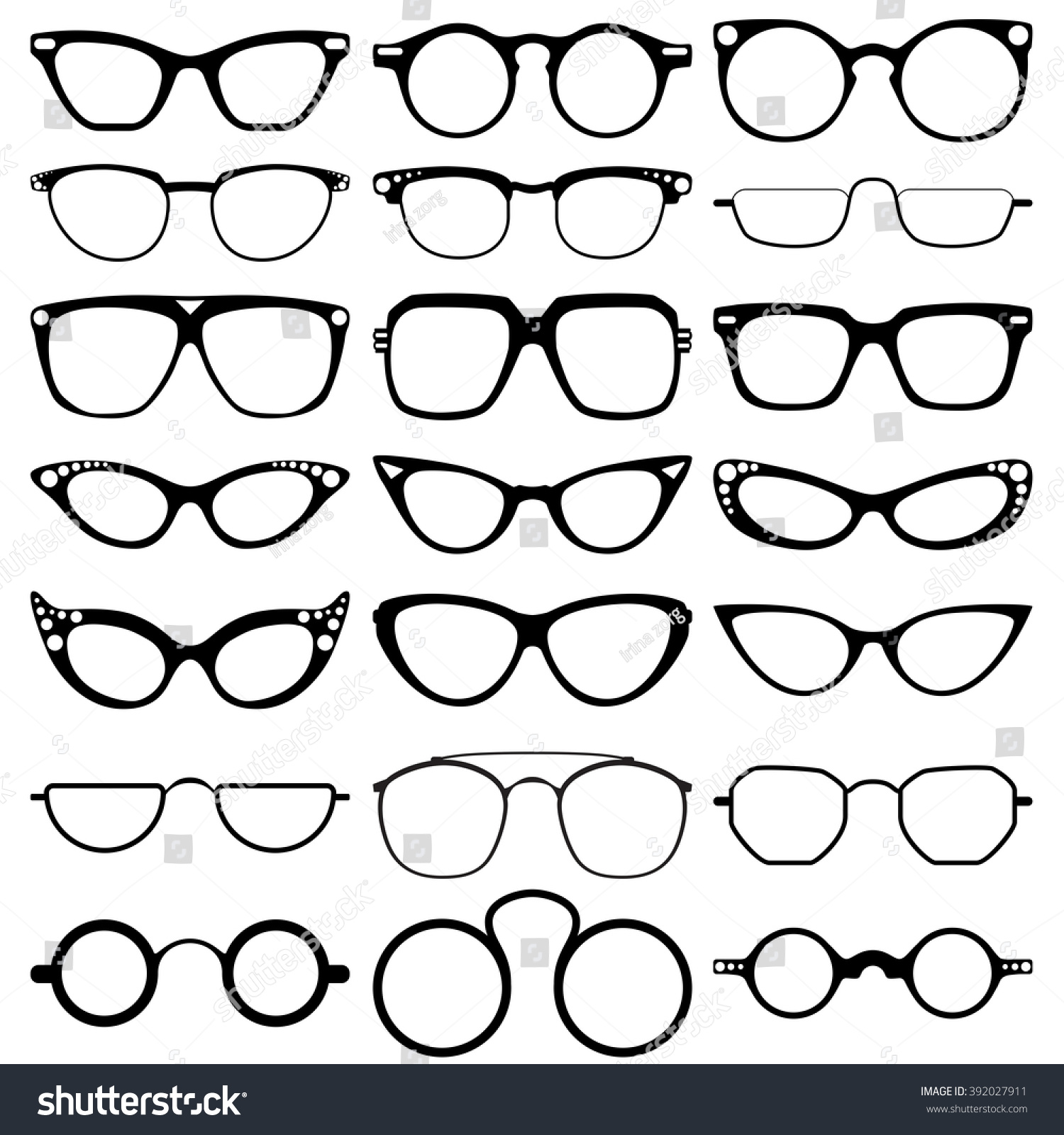 Royalty-free Glasses model icons, man, women frames… #392027911 ...