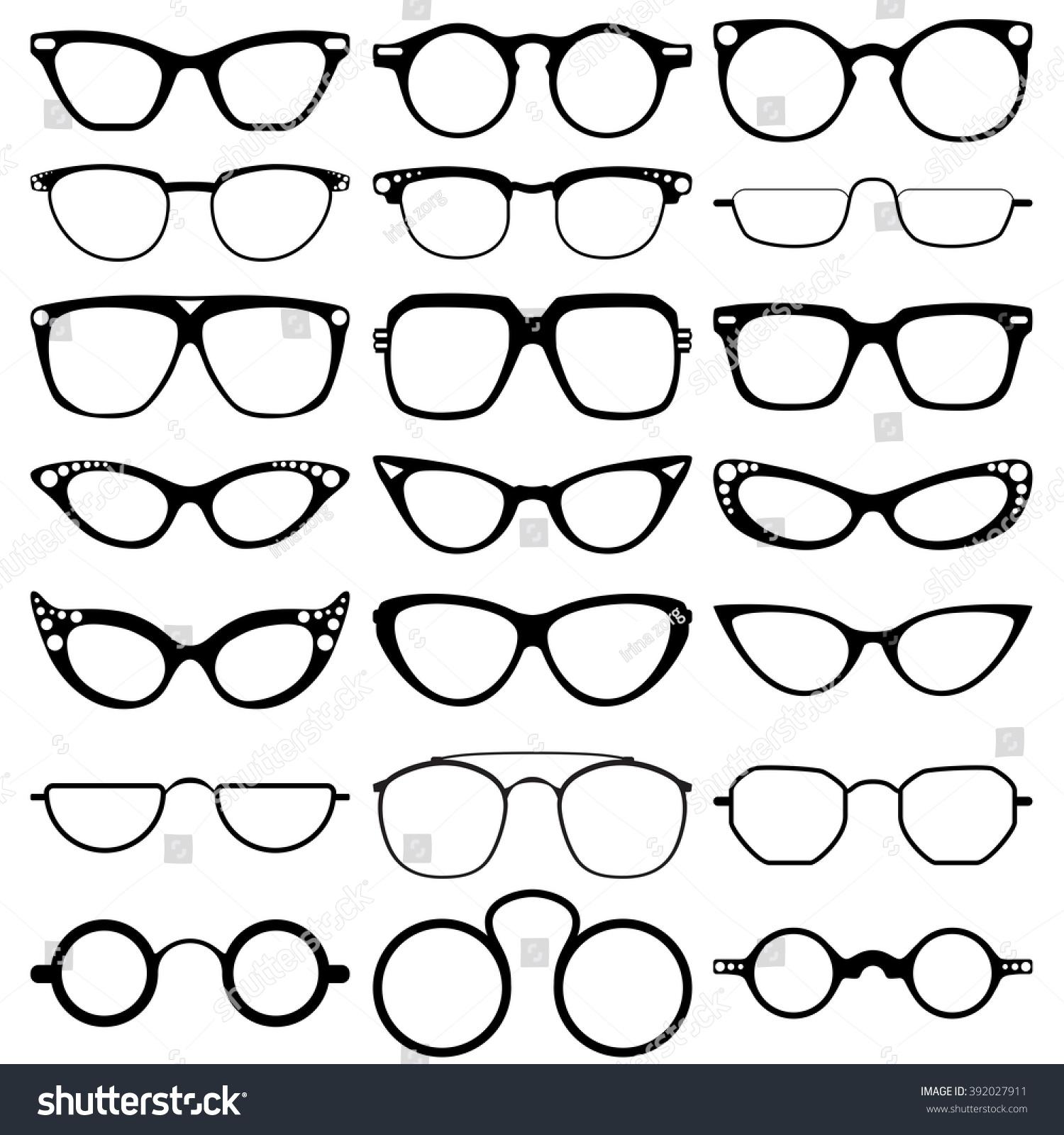 e755fc1011b Glasses Model Icons Man Women Frames Stock Vector (Royalty Free ...