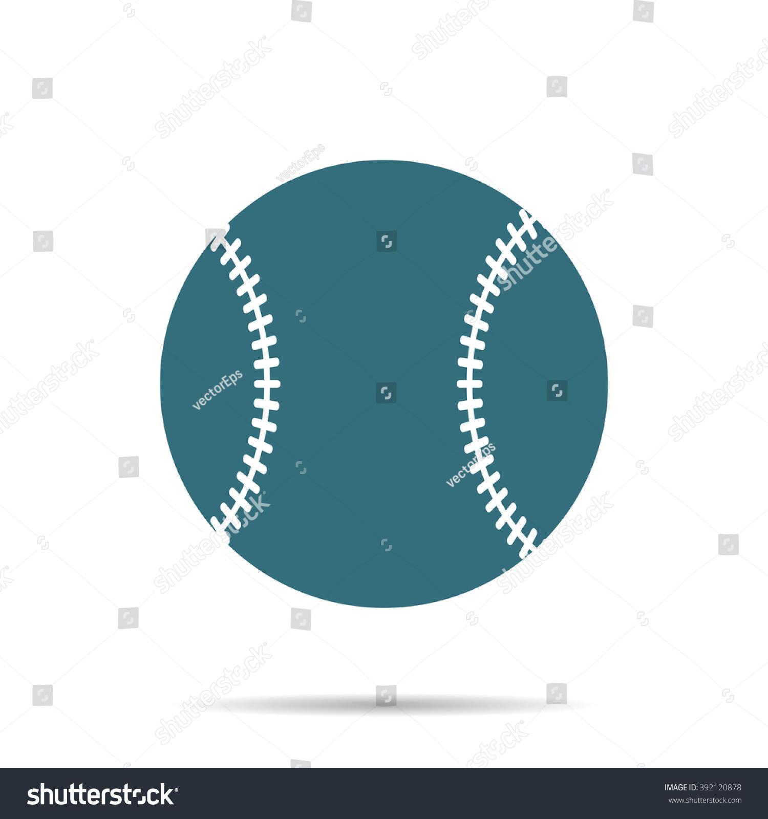 Blue Baseball Ball Icon Isolated On Background. Modern ...