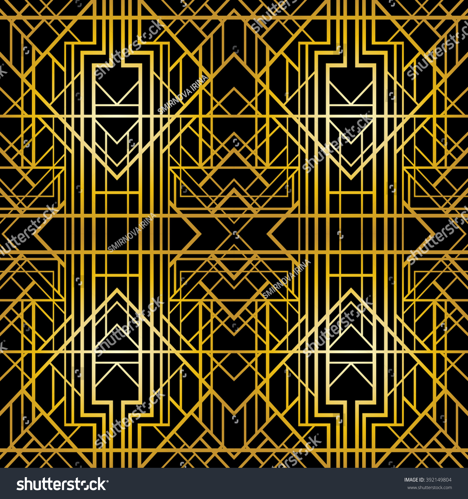 Art Deco Geometric Pattern (1920'S Style), Seamless ...