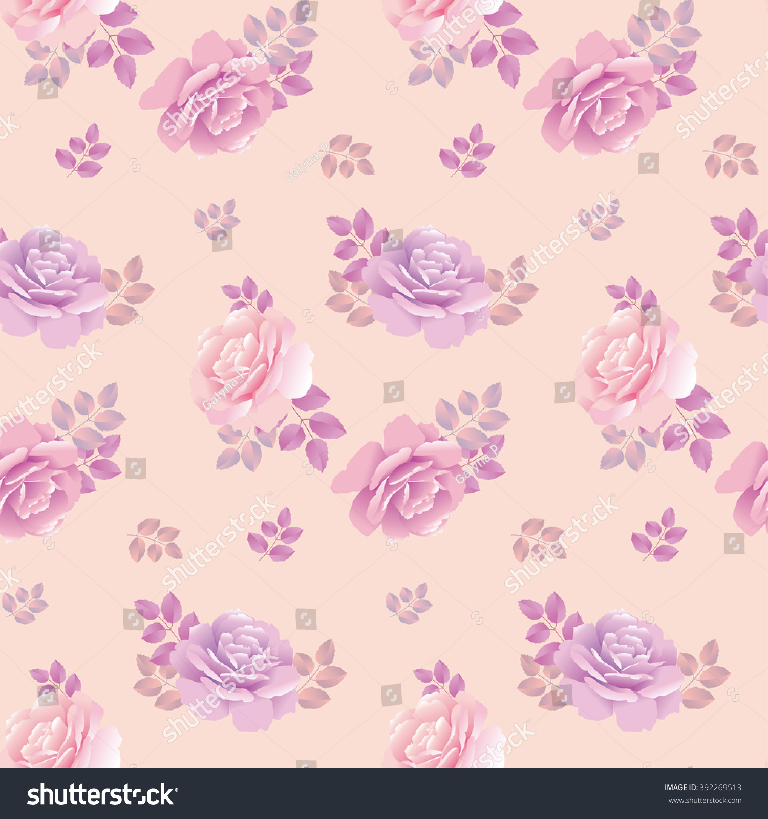 delicate rose pattern vector illustration