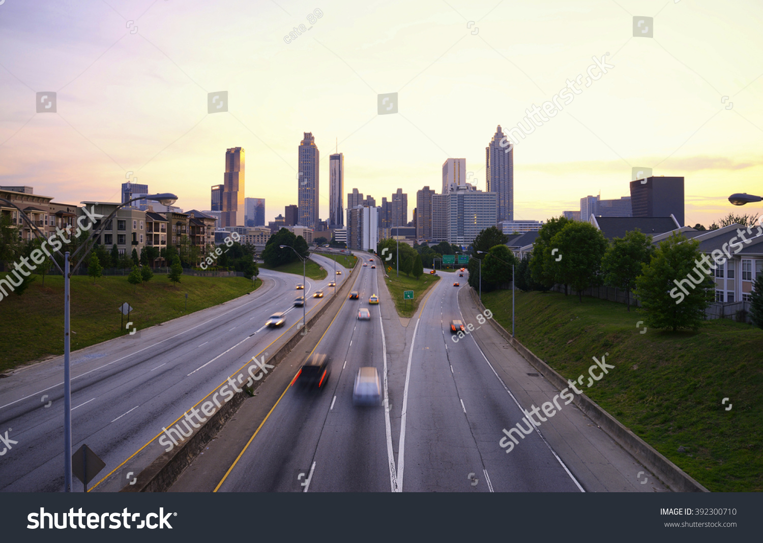 atlanta skyline georgia usa stock photo 392300710 shutterstock. Black Bedroom Furniture Sets. Home Design Ideas