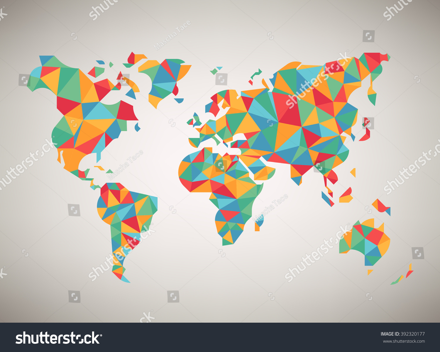 World map vector cool abstract colorful stock vector for Map designer free