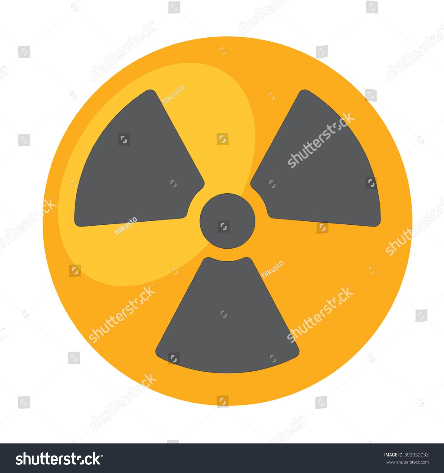 Radioactivity Symbol Radioactive Waste Logo Stock Vector Royalty