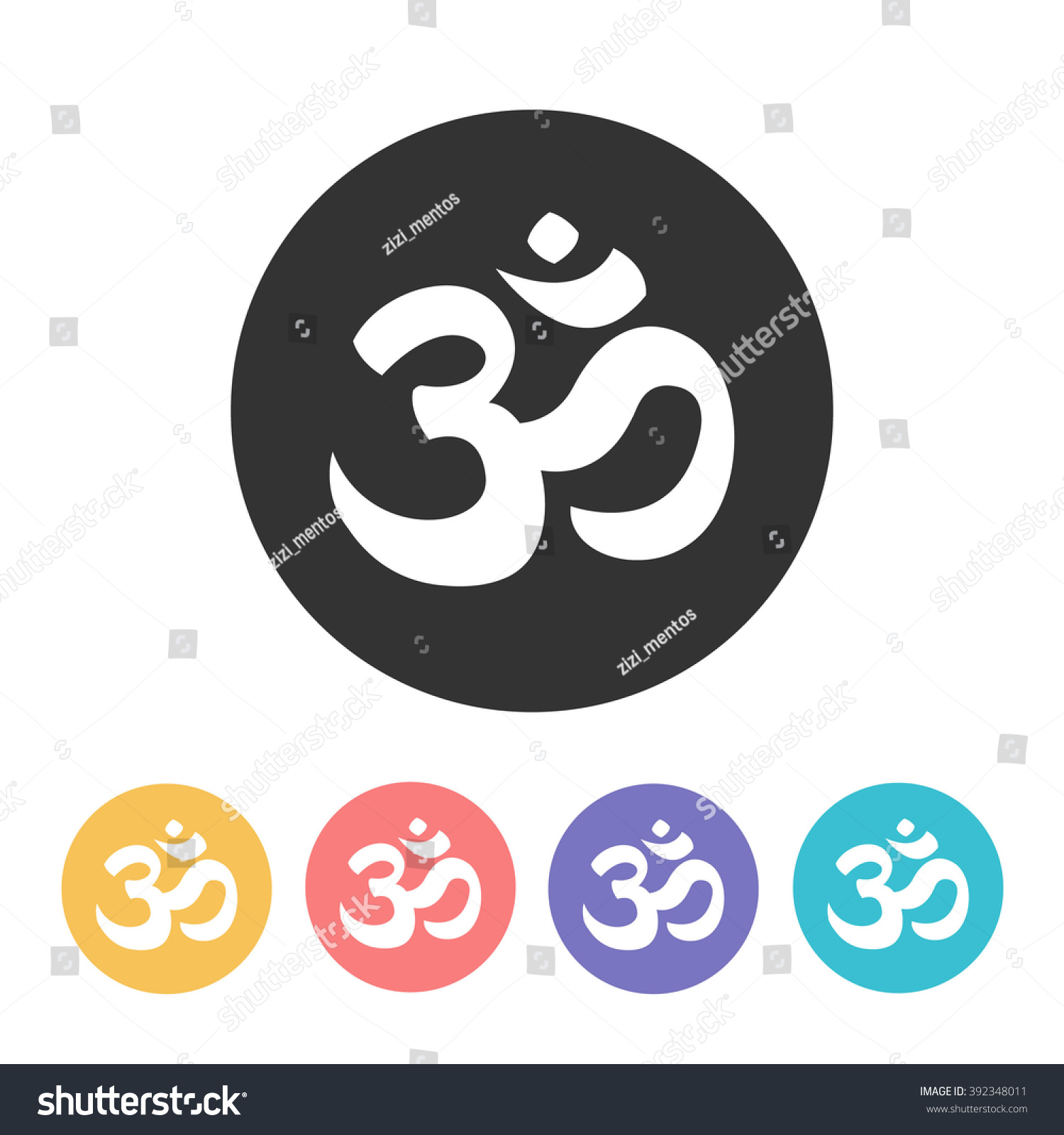 Om Icon Vector Illustration Stock Vector 392348011