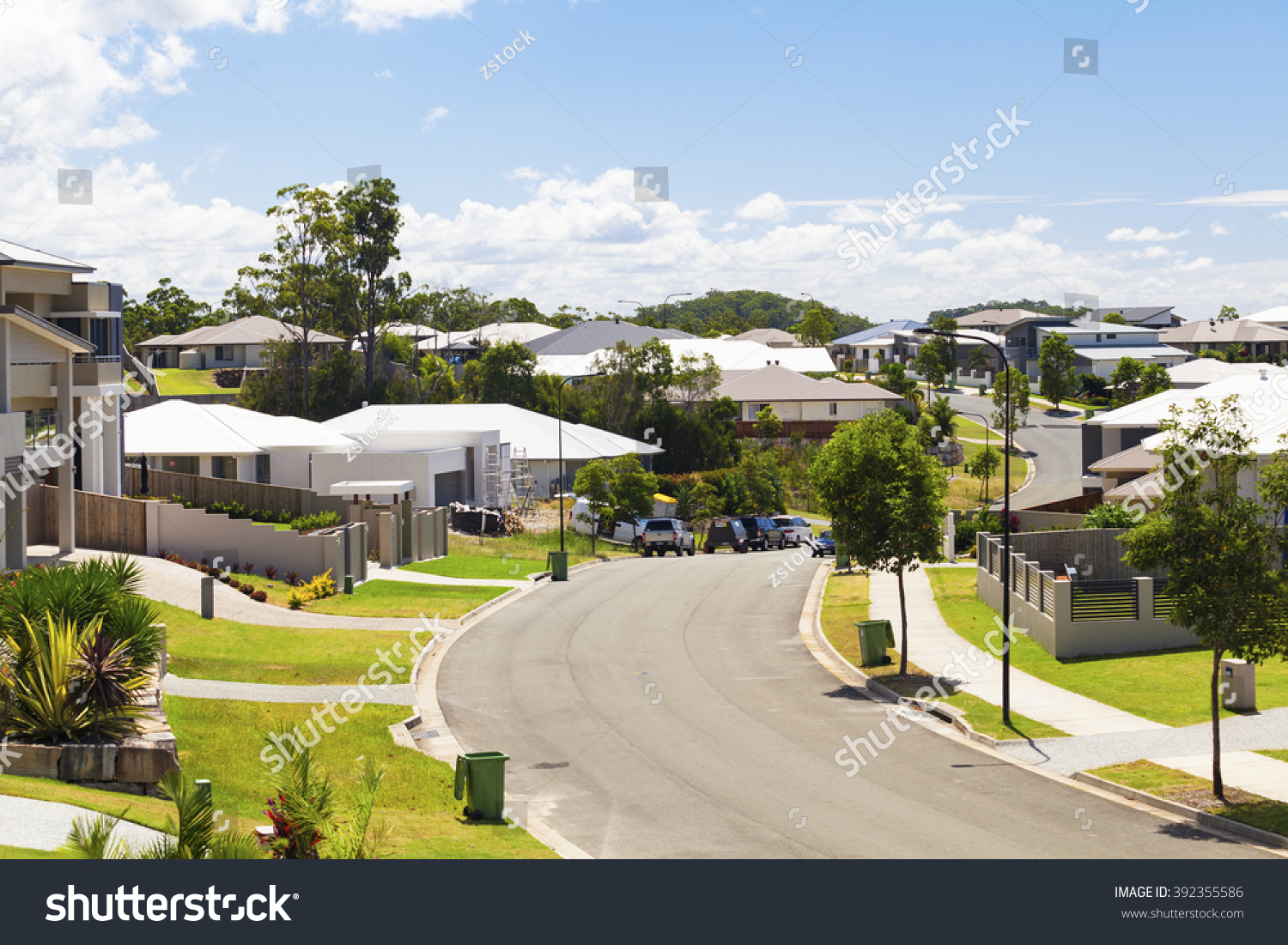 Suburban australian street during the day #392355586