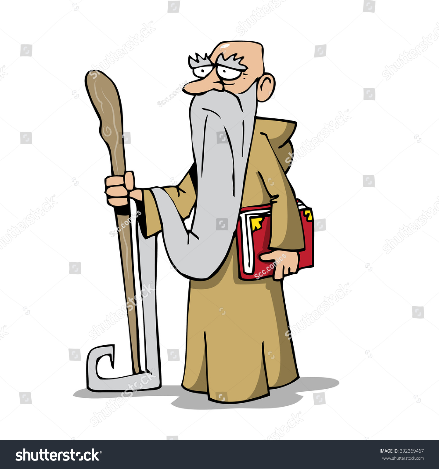 Old Wise Man Stock Vector 392369467 - Shutterstock