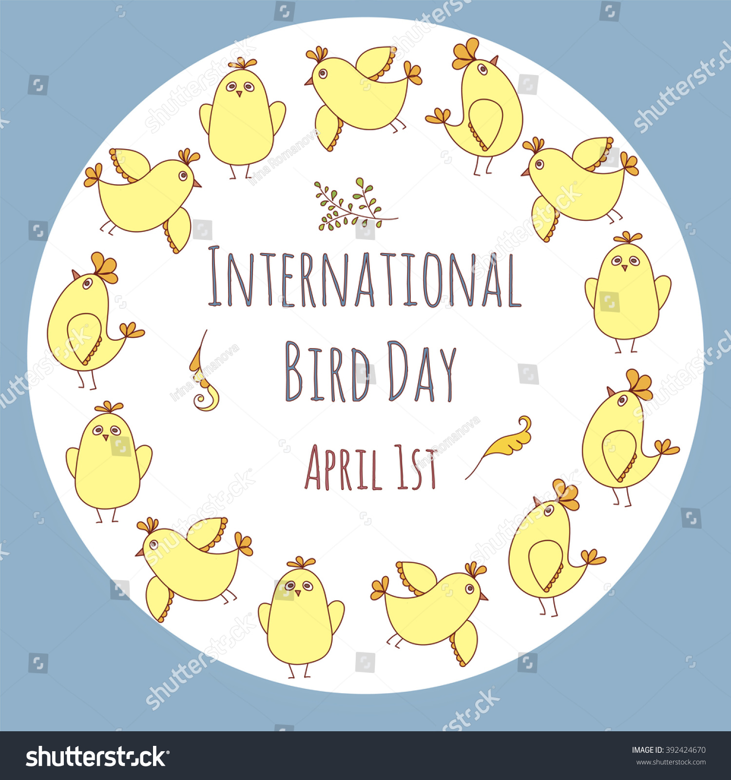 International bird day greeting card template stock vector 392424670 international bird day greeting card template kristyandbryce Image collections