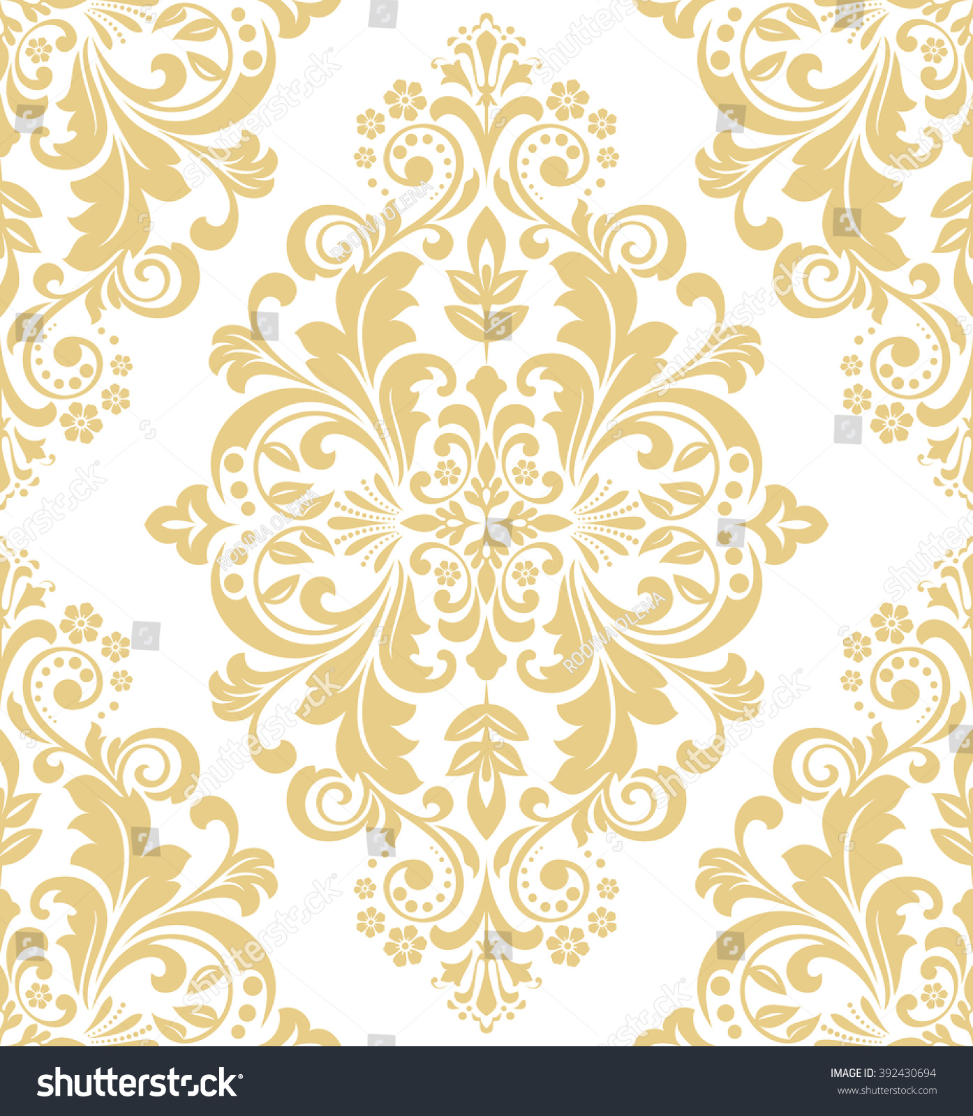 white and gold floral wallpaper - photo #26