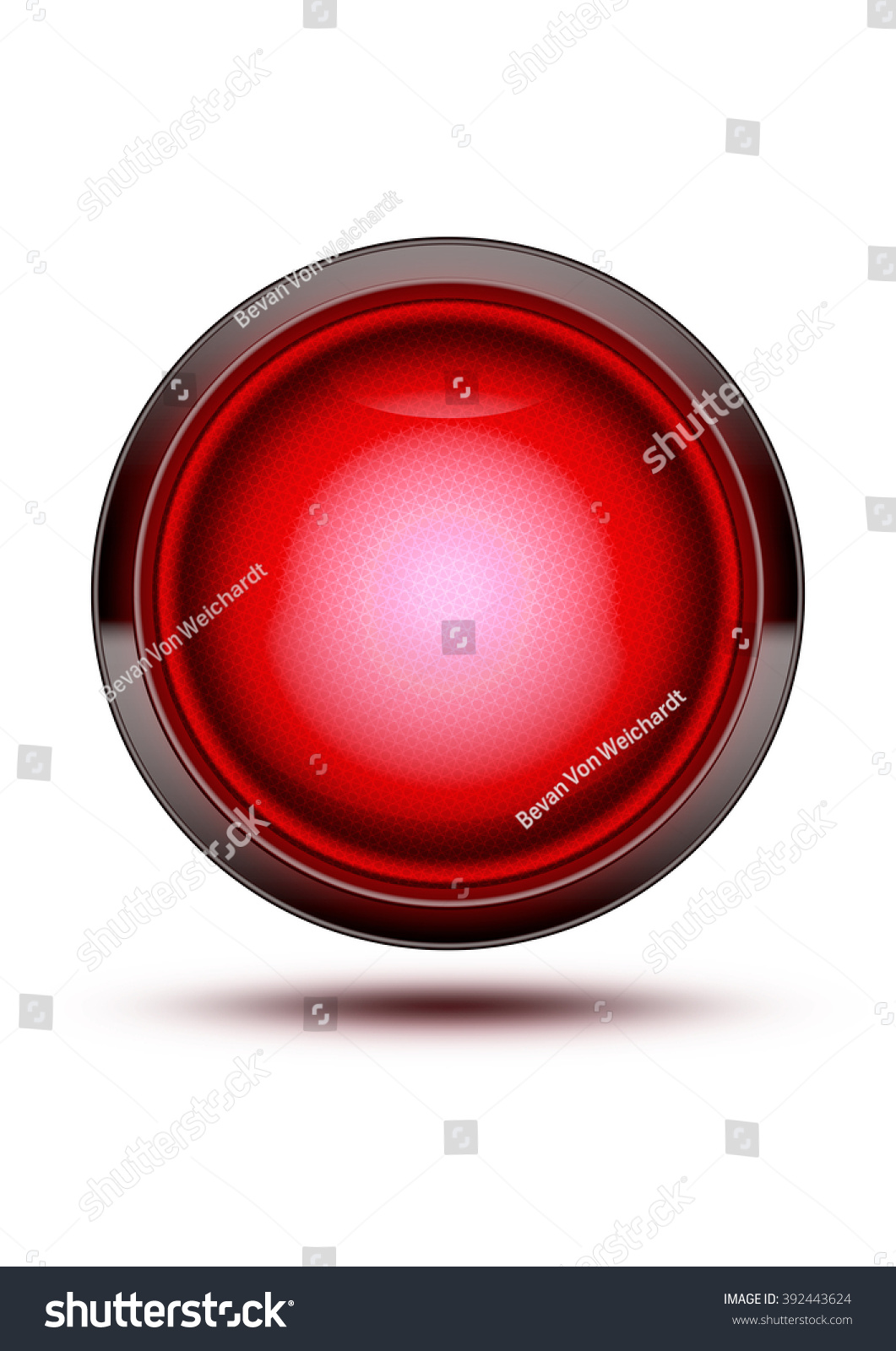 Bright Red Traffic Light Symbol Glowing Stock Illustration 392443624 Wiring While Isolated On White Green Glass Icon With Wire