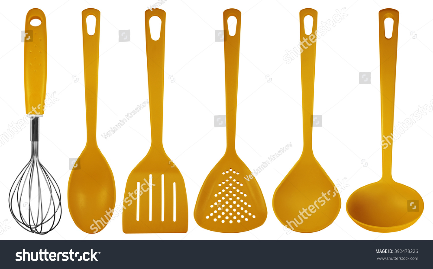 Orange Plastic Kitchen Utensils Isolated On Stock Photo (Royalty Free)  392478226   Shutterstock