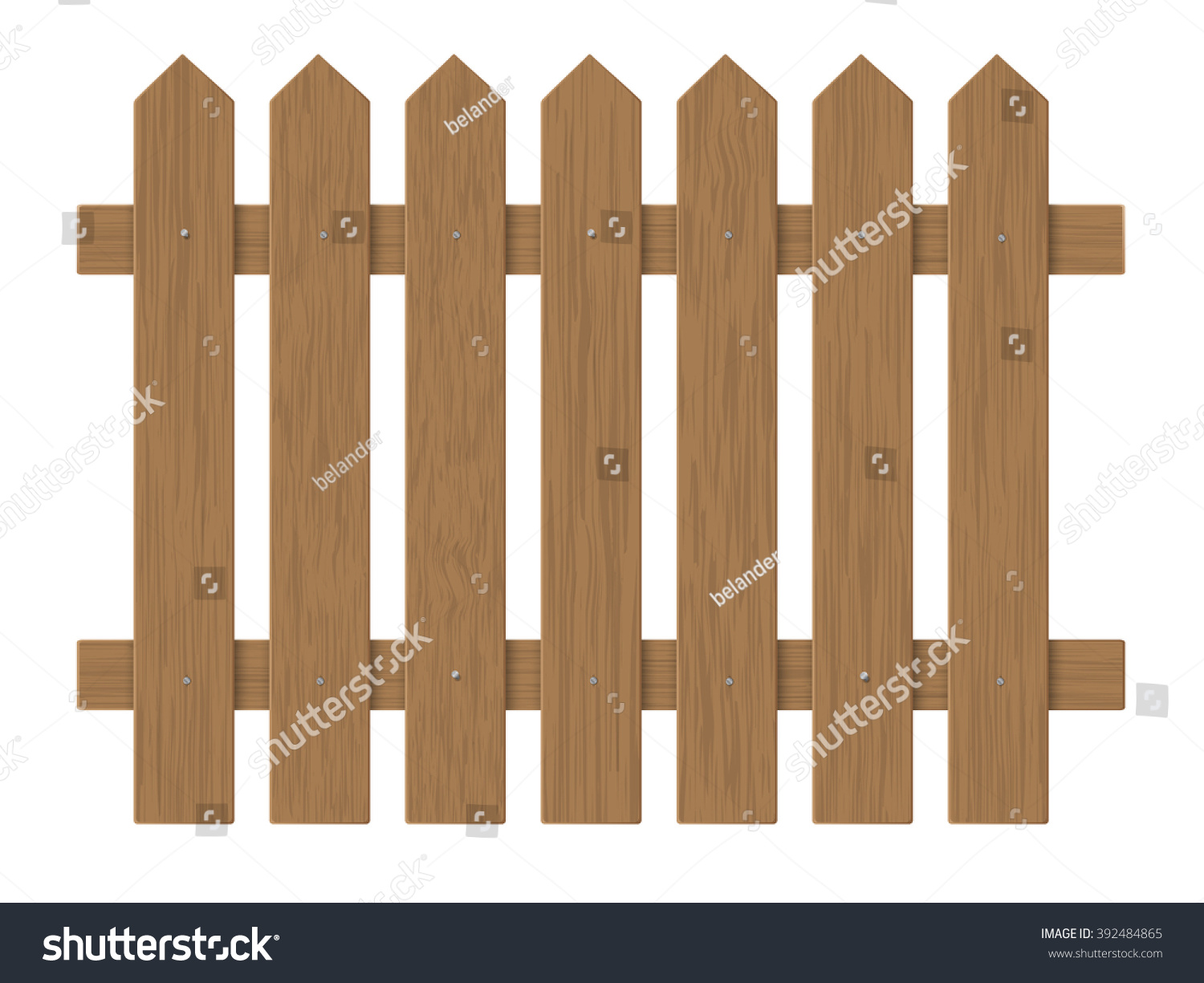 Brown Wooden Fence, Barrier In The Garden On The Farm Or In The Village.