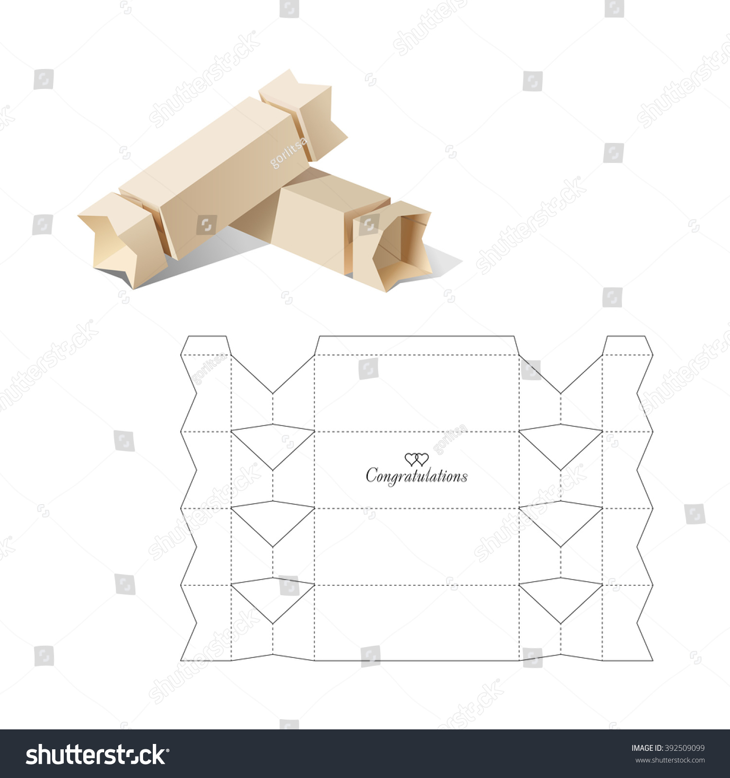 Candy box blueprint template stock vector 392509099 shutterstock candy box with blueprint template malvernweather Choice Image
