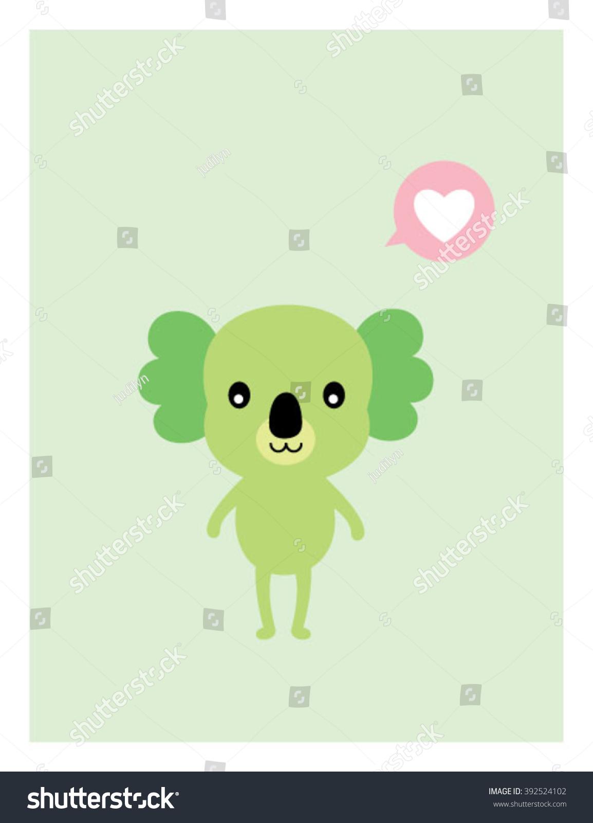Koala Bear Love Greeting Card Ez Canvas
