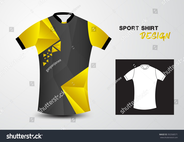 Shirt uniform design vector - Yellow And Black Sport Shirt Design Polygon Vector Illustration Sport T Shirt Uniform