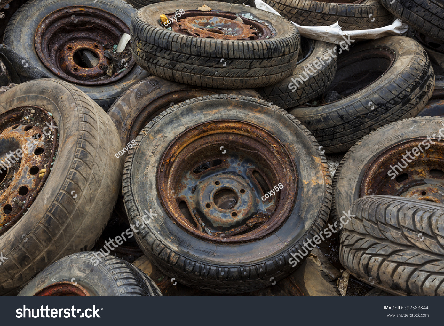 Scrap Auto Car Parts Stacks Old Stock Photo (100% Legal Protection ...