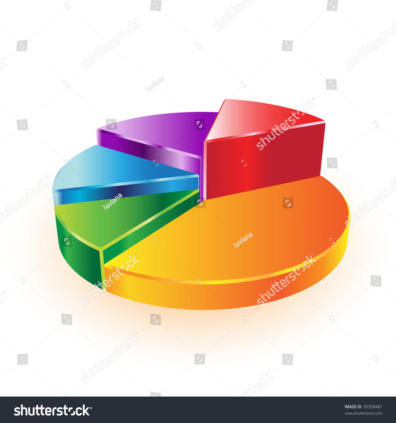 3d vector pie chart stock vector 39258481 shutterstock 3d vector pie chart geenschuldenfo Image collections