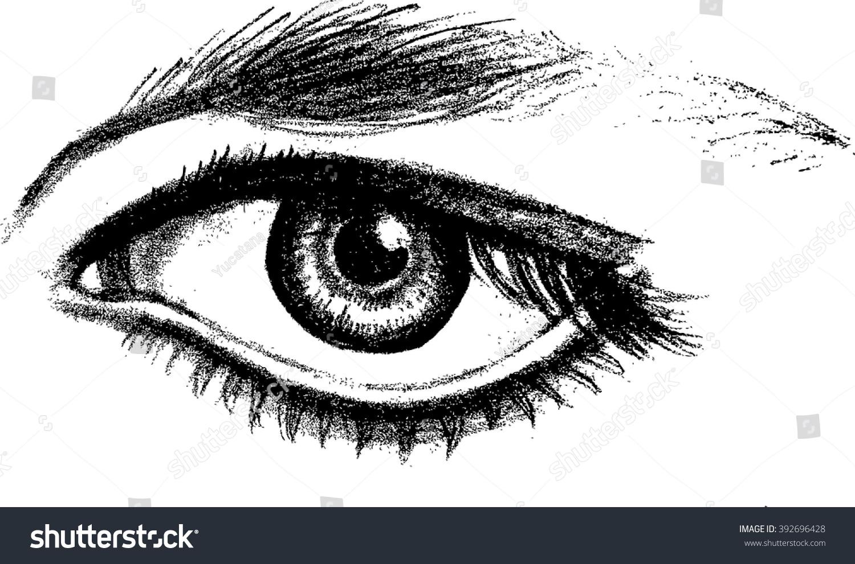 Open Eye Pencil Sketch...